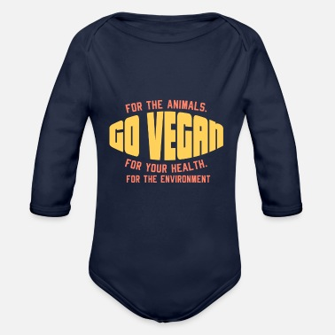 Go-vegan VEGAN: Go vegan - Organic Long-Sleeved Baby Bodysuit