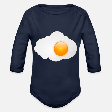 Egg Fried egg with egg yolk - Organic Long-Sleeved Baby Bodysuit