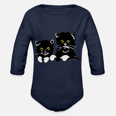 Pussy Pussies - Organic Longsleeve Baby Bodysuit