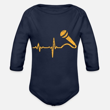 Springsteen Gift heartbeat singer microphone - Organic Long-Sleeved Baby Bodysuit