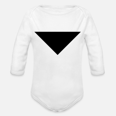 Down With Detroit arrow sans down - Organic Long-Sleeved Baby Bodysuit