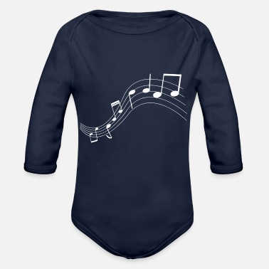 Music Note Music notes music notes - Organic Long-Sleeved Baby Bodysuit