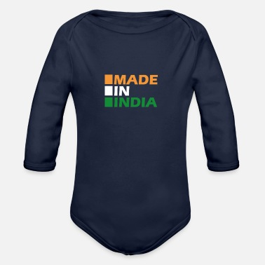Made in India - Organic Long-Sleeved Baby Bodysuit