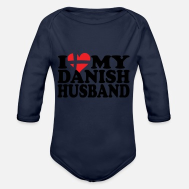 Danish I Love my danish husband - Baby Bio-Langarm-Body