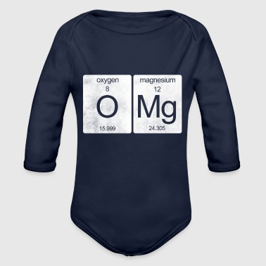 OMG periodic table - Organic Longsleeve Baby Bodysuit