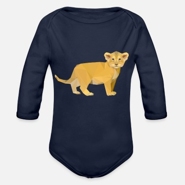 Cub lion cub - Organic Long-Sleeved Baby Bodysuit