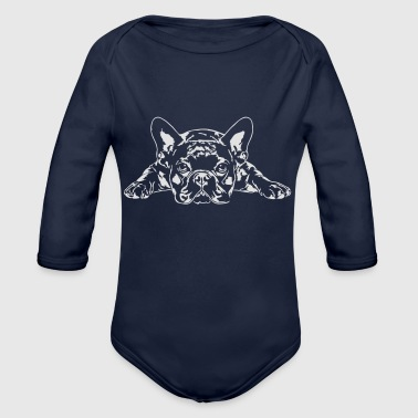 Bulldog French Bulldog lying - French Bulldog - Organic Longsleeve Baby Bodysuit