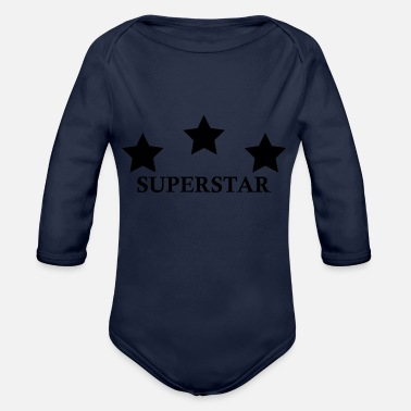 Superstar SUPERSTAR - Baby bio-rompertje met lange mouwen