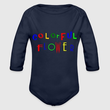 Colourful flowers - Organic Longsleeve Baby Bodysuit