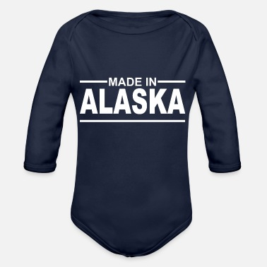 Made in Alaska - USA - Anchorage - Inuit - Organic Long-Sleeved Baby Bodysuit