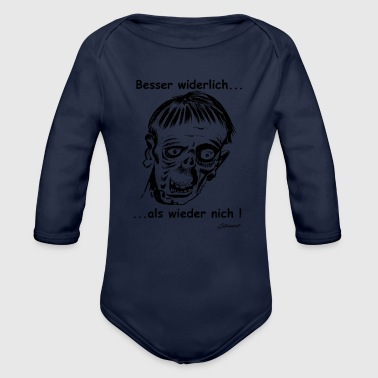 better disgusting than not again! - Organic Longsleeve Baby Bodysuit