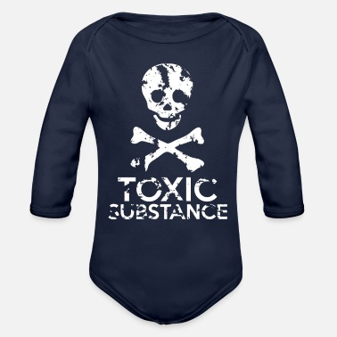 Grungy Grungy Warning Sign – Toxic Substance - Organic Long-Sleeved Baby Bodysuit