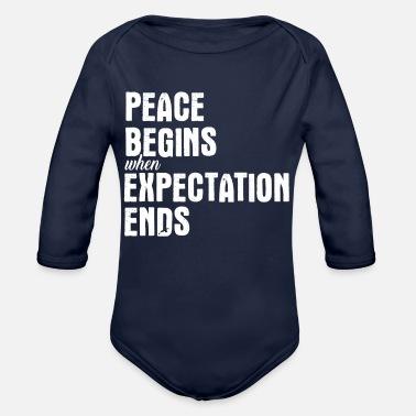 f87100a1b139 La pace inizia quando l  39 attesa finisce - Body a manica lunga per