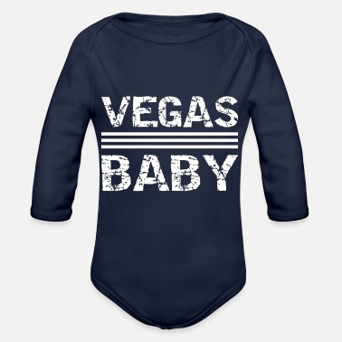 Vegas Las Vegas Baby America Party Casino Poker Nevada - Organic Long-Sleeved Baby Bodysuit