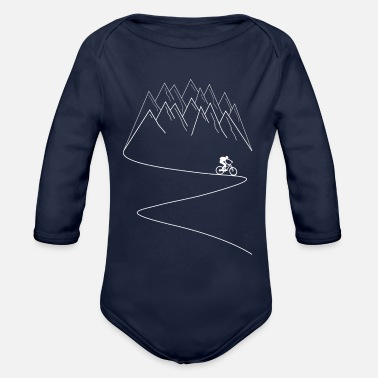 Bike MTB mountain bike mountain biking - Organic Long-Sleeved Baby Bodysuit