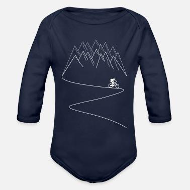 MTB mountain bike mountain biking - Organic Long-Sleeved Baby Bodysuit