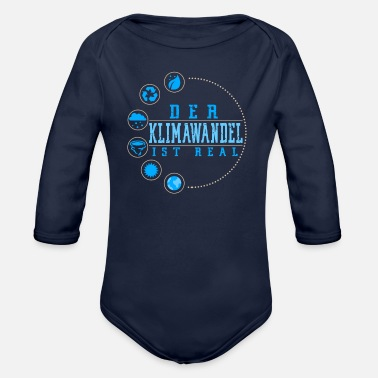 Climate Change The climate change - Organic Longsleeve Baby Bodysuit
