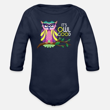 Owl Owl - Owl - Organic Long-Sleeved Baby Bodysuit