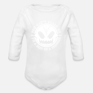 Undaunted Mother of a Toddler Undaunted Mama Pumpkin - Organic Long-Sleeved Baby Bodysuit