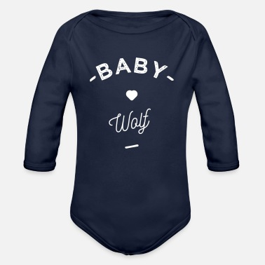 Loup Baby wolf- - Body Bébé bio manches longues