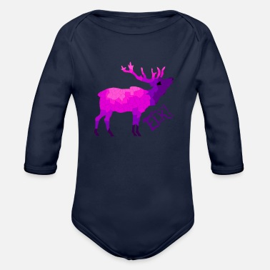 Elk # 2 - Organic Long-Sleeved Baby Bodysuit