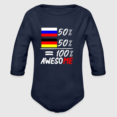50% Russisch 50% Deutsch - Baby Bio-Langarm-Body