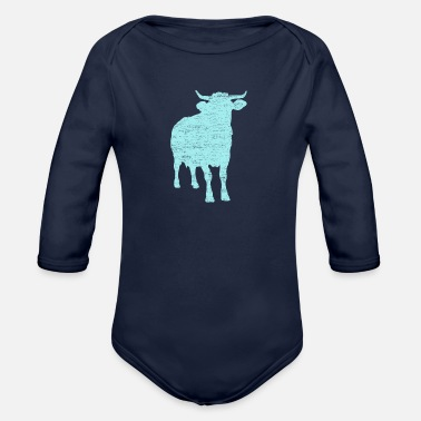 Kuhle Kuh Rind cattle dairy farmer cattle breeding - Organic Long-Sleeved Baby Bodysuit