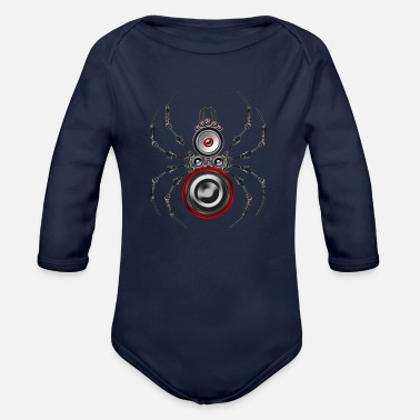 Trance Techno stag beetle insect bass speaker - Organic Long-Sleeved Baby Bodysuit