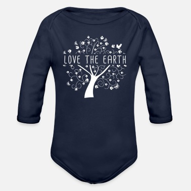 Earth Earth Day - Love the Earth - Conservation Environment - Organic Long-Sleeved Baby Bodysuit
