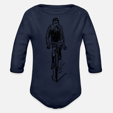 Cyclist cyclist - Organic Long-Sleeved Baby Bodysuit