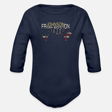 Harvard johnson from boston - Organic Longsleeve Baby Bodysuit