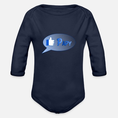 Papy papy - Organic Long-Sleeved Baby Bodysuit