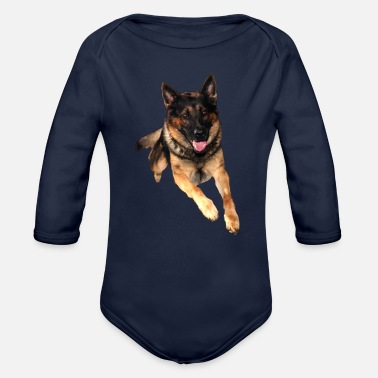 German German Shepherd / German Shepherd - Organic Long-Sleeved Baby Bodysuit