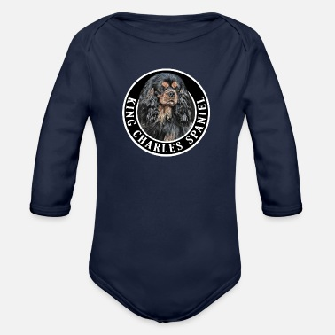King King Charles Spaniel 002 - Organic Long-Sleeved Baby Bodysuit