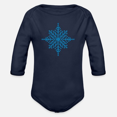 Snow Crystal Snow crystal - Organic Long-Sleeved Baby Bodysuit