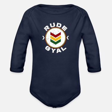 Bashment Rude Gyal - Organic Long-Sleeved Baby Bodysuit