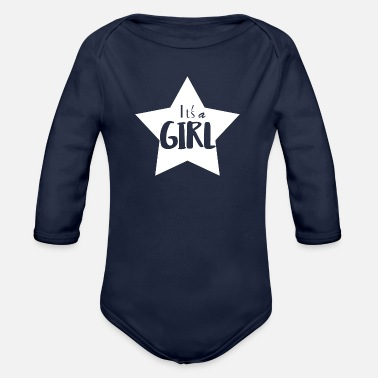 Girl It's a Girl - Organic Long-Sleeved Baby Bodysuit