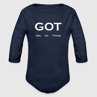 Girl on Tinder - Organic Longsleeve Baby Bodysuit