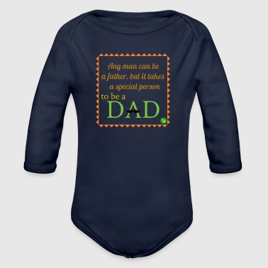 Father's Day - Organic Longsleeve Baby Bodysuit