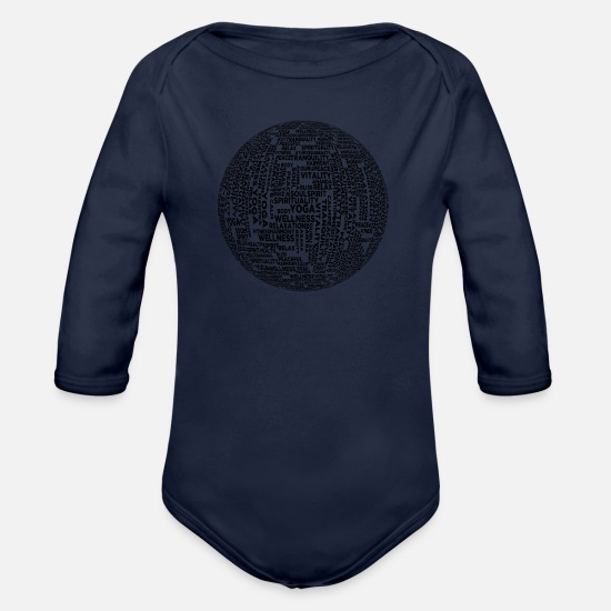 World Baby Clothes - world - Organic Long-Sleeved Baby Bodysuit dark navy