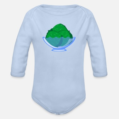 Vanilla Icecream Ice cream icecream gift vanilla ice cream cup summer - Organic Long-Sleeved Baby Bodysuit