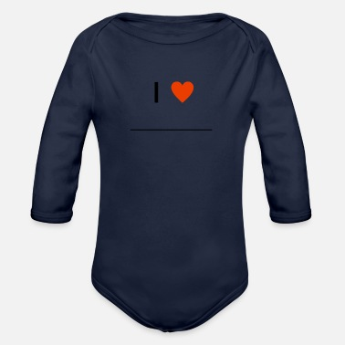 Writing I Love ... T-Shirt Gift Line Writing - Vauvan pitkähihainen luomu-body
