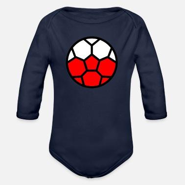 fe63d7716e332 Coupe du monde de football Drapeau Pologne Coupe du monde - Body Bébé bio  manches longues