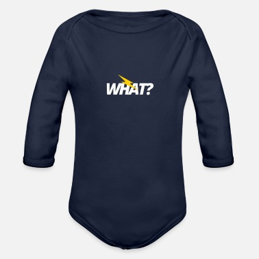 What What? - Organic Long-Sleeved Baby Bodysuit