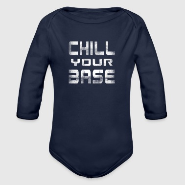 Chilling calming relax relaxation gift - Organic Longsleeve Baby Bodysuit