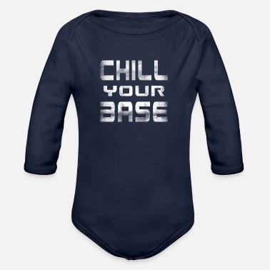 Lazy Chilling calming relax relaxation gift - Organic Longsleeve Baby Bodysuit