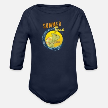 chameleon - Organic Long-Sleeved Baby Bodysuit
