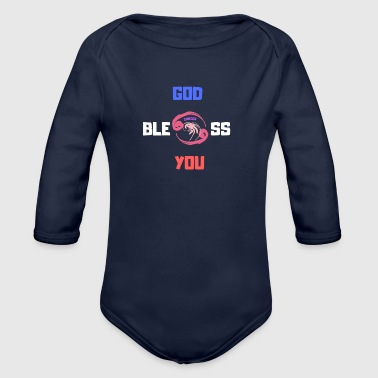 Bless You God bless you 2 - Organic Longsleeve Baby Bodysuit
