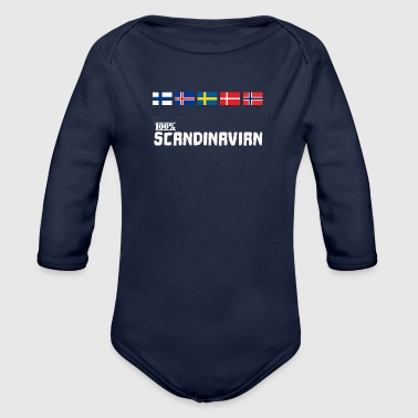 Scandinavie 100% Scandinave Viking flag - Body bébé bio manches longues