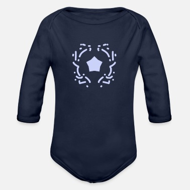 Monument Silver monument gift idea - Organic Long-Sleeved Baby Bodysuit